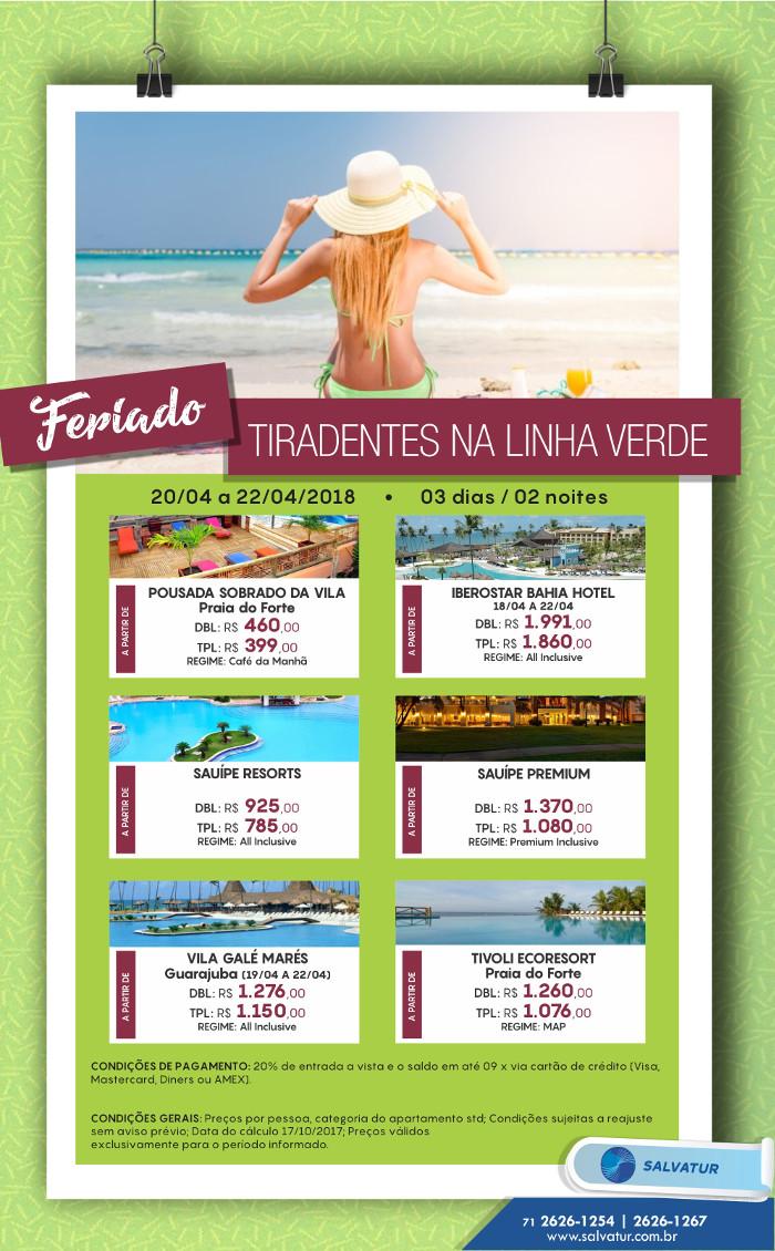 Pacote de Viagem Feriado Tiradentes Linha Verde