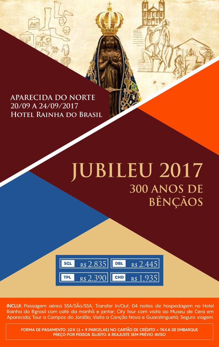 Pacote de Viagem Jubileu Aparecida 2017